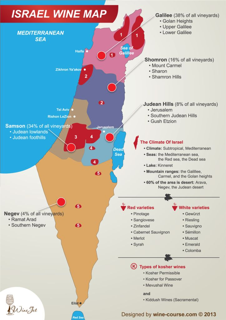 Israel Wine map