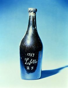 Bottle Of Thomas Jeffersons Chateau Lafitte (Sic) 1787.